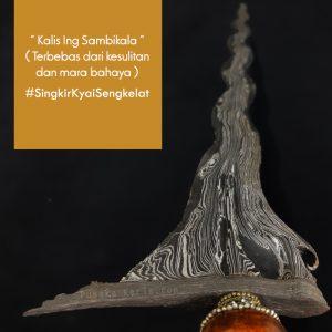 Keris Kyai Sengkelat Pamor Singkir Sepuh Kuno
