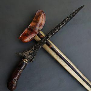 Keris Pamor Rojo Gundolo Sepuh Kuno