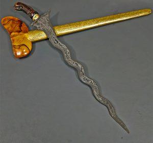 Keris Sabuk Inten Luk 11 Sepuh Kuno