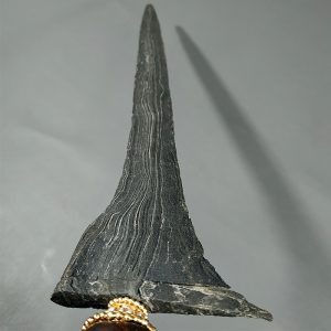 Keris Bethok Brojol Pamor Adeg Mrambut Sepuh Kuno