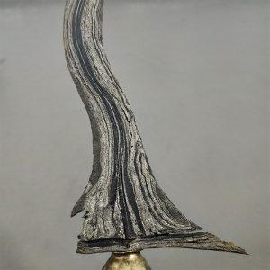 Keris Sempana Luk 9 Pamor Setro Banyu Sepuh Kuno
