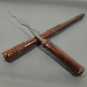 Tongkat Komando Isi Tombak Pusaka Cacing Kanil Sepuh Kuno
