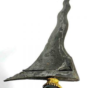 Keris Jaran Guyang Luk 7 Asli Pamor Wengkon Sepuh Kuno