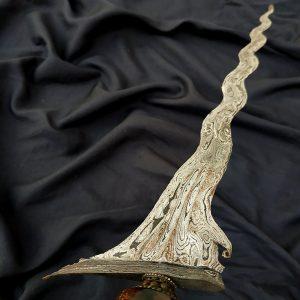 Keris Sengkelat Luk 13 Mataram Sultan Agung Pamor Akhodiyat Meteor
