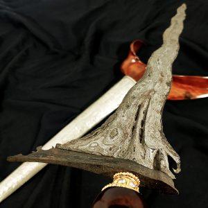 Keris Carita Keprabon Luk 11 Kanoman Cirebon Pamor Pedaringan Kebak Meteor
