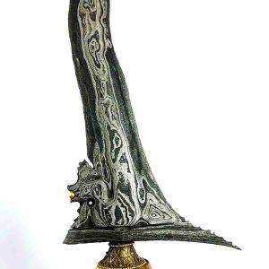 Keris Naga Siluman Luk 9 Ngemut Emas Original Asli Sepuh Kuno