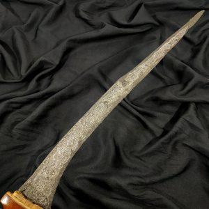 Pedang Kuno Suduk Maru Pamor Damaskus Beras Wutah