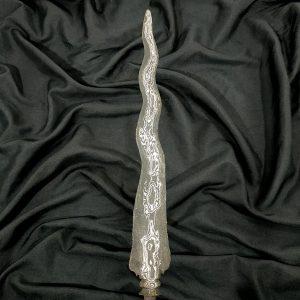 Tombak Pusaka Karacan Luk 7 Pamor Beras Wutah Tangguh Pajang Mataram Kuno