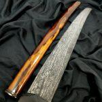 Pedang Kuno Golok Sabet Pamor Mrambut Tangguh Mataram Sepuh