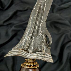 Pusaka Keris Sengkelat Luk 13 Gonjo Wilut Pamor Maskumambang Sepuh Kuno