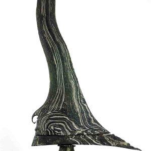 Keris Kuno Carubuk Pamor Dwi Warna Singkir Batu Lapak Tangguh Blambangan