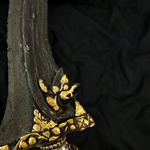 Keris Nogo Siluman Kinatah Emas Pamor Banyu Tetes Mataram Senopaten